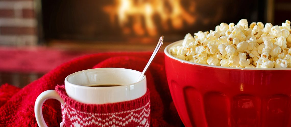 Canva - Christmas Mug and Popcorn